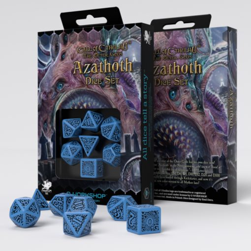 Conjunto com 7 dados RPG Call Of Cthulhu The Outer Gods Azathoth - Q-Workshop