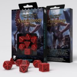 Conjunto com 7 dados RPG Call Of Cthulhu The Outer Gods Nyarlathotep  - Q-Workshop
