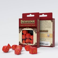 Conjunto com 7 dados RPG Pathfinder Curse Of The Crimson Throne - Q-Workshop