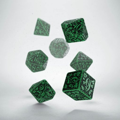 Conjunto com 7 dados RPG Forest Verde - Q-Workshop