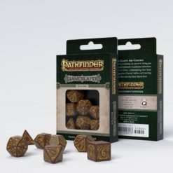 Conjunto com 7 dados RPG Pathfinder Giantslayer  Q-Workshop