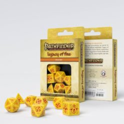 Conjunto com 7 dados RPG Pathfinder Legacy of Fire- Q-Workshop