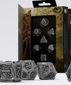 Conjunto com 7 dados de Metal Call Of Cthulhu importados Q-Workshop