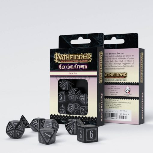 Conjunto com 7 dados RPG Pathfinder Carrion Crown Q-Workshop