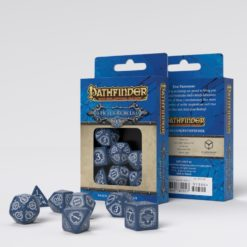 Conjunto com 7 dados RPG Pathfinder Hell's Rebels Q-Workshop