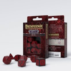 Conjunto com 7 dados RPG Pathfinder Wrath of the Righteous - Q-Workshop Promoção