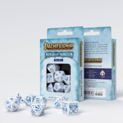 Conjunto com 7 dados RPG Pathfinder Reign Of Winter - Q-Workshop