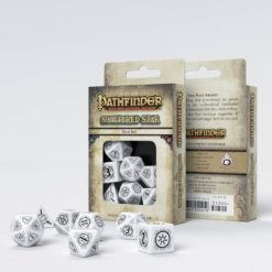 Conjunto com 7 dados RPG Pathfinder Shattered Star - Q-Workshop